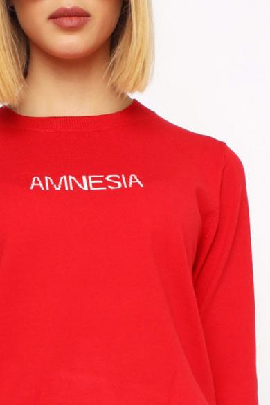 Amnesia - Vékony Piros Pulóver