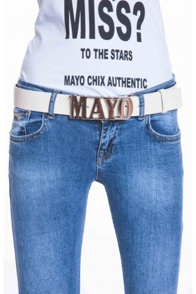 Mayo Chix - Álló Mayo Öv Matt Fehér (Ezüst)