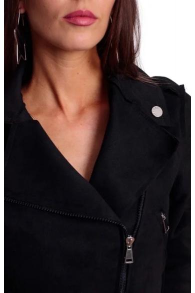 Mayo Chix - Sandy Velúr Fekete Kabát