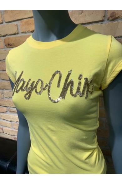 Mayo Chix - Light Átforduló Flitteres Póló