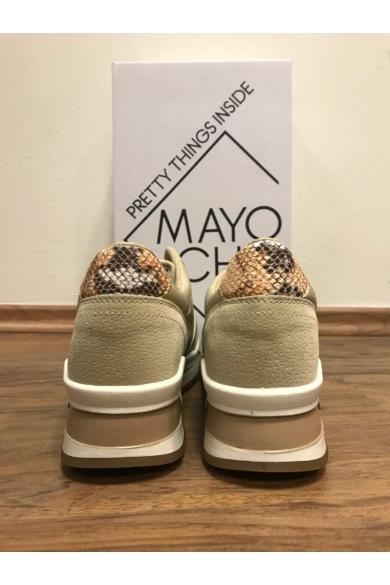 Mayo Chix - 1222 Bézs Emelt Sarkú Sportcipő